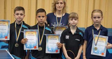 10-річні жовківчани – призери чемпіонату України з настільного тенісу