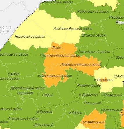 """Жовківщина – у """"жовтій"""" зоні за показниками коронавірусу"""